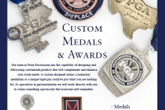 Custom Medals Poster for the PGA Merchandise Show - January 2018
