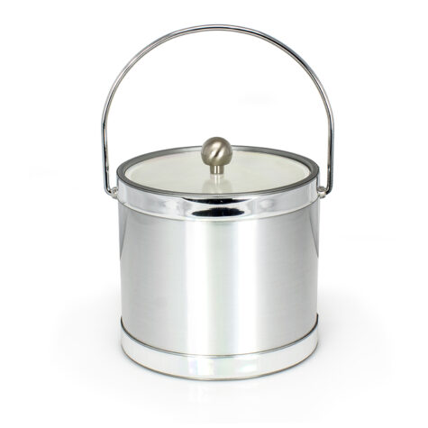 Brushed Silver Ice Bucket
