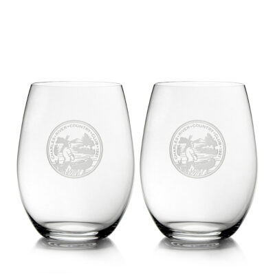 Set of 2 O Series Stemless Glasses
