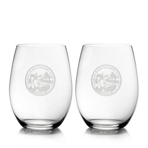 Set of 2 O Series Stemless Glasses