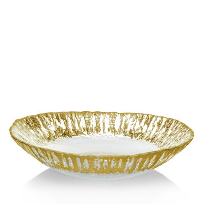 Glass Oval Serving Bowl