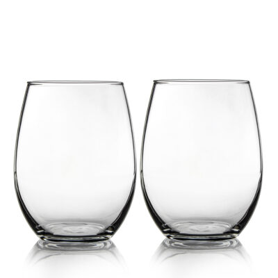 Set of 2 Stemless Glasses