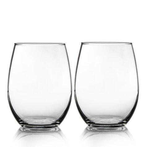 Set of 2 Stemless Glasses