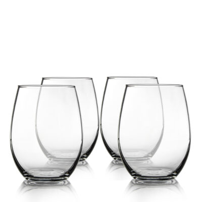 Set of 4 Stemless Glasses