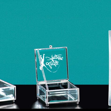 Hinged Glass Box
