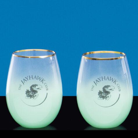 Stemless Wine Glass in Green