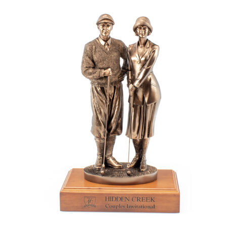 Couples Golf Statue