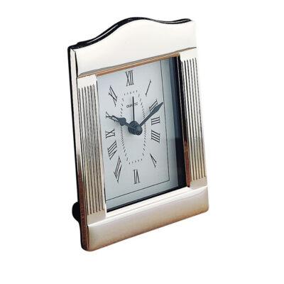 Silver-Plate Clock