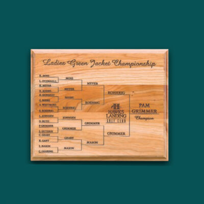 Wood Championship Plaque