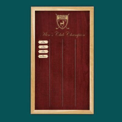 Wood Plaque with Alder Border