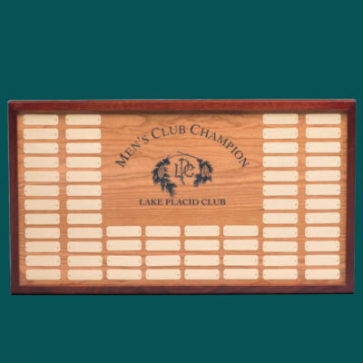 Wood Plaque with Cherry Border