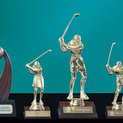 Gold Tone Female Trophy