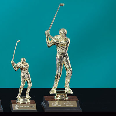 Gold Tone Male Trophy
