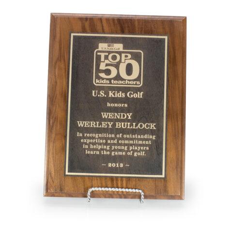 Walnut Lasered Plaque