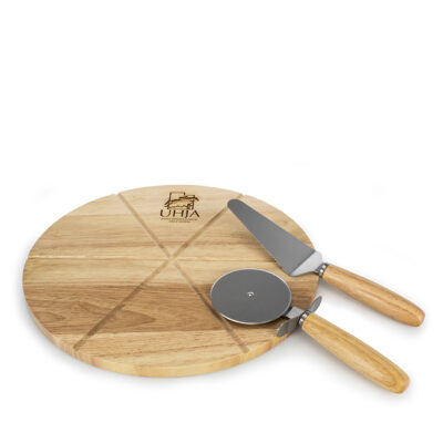 Pizza Board with Utensils